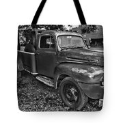 Ford F4 Tow The Truck Hook And Book Black And White Tote Bag