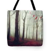 Forest In December Mist Tote Bag