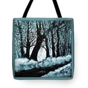 Forest Misty Dawn In Late Fall Tote Bag