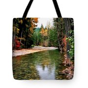 Forest With River Tote Bag