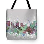 Fort Worth Skyline Artistic Pastel Tote Bag