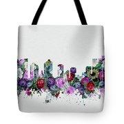 Fort Worth Skyline Floral 2 Tote Bag