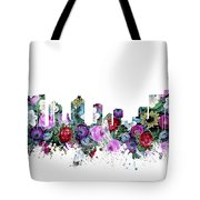 Fort Worth Skyline Floral Tote Bag