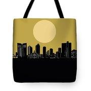 Fort Worth Skyline Minimalism Yellow Tote Bag