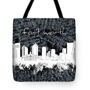 Fort Worth Skyline Music Sheet 2 Tote Bag