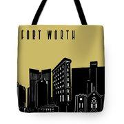 Fort Worth Skyline Panorama Yellow Tote Bag