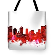 Fort Worth Skyline Red Tote Bag