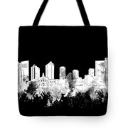 Fort Worth Skyline Watercolor Black And White 2 Tote Bag