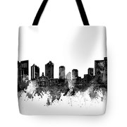 Fort Worth Skyline Watercolor Black And White Tote Bag