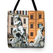 Fountain Of Neptune Tote Bag