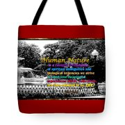Fountain With Quote From Dreams Of The Immortal City Savannah Tote Bag