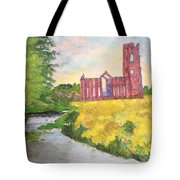 Fountains Abbey In Yorkshire Through Japanese Eyes Tote Bag