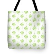 Four Leaf Clover Lucky Charm Pattern Tote Bag