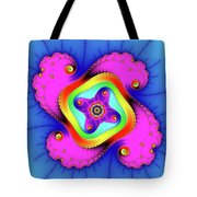 Fractal Art With Bold Colors Square Tote Bag