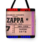 Frank Zappa 1980 Concert Ticket Tote Bag