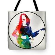 Frank Zappa Watercolor Tote Bag