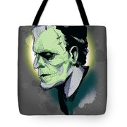 Frankenskull Tote Bag