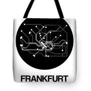 Frankfurt Black Subway Map Tote Bag