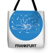 Frankfurt Blue Subway Map Tote Bag