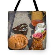 French Flea Market Pottery Tote Bag
