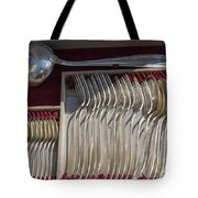French Silver Tote Bag
