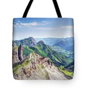 French Village In The Pyrenees Tote Bag