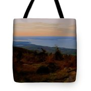 Frenchman's Bay From Cadillac Mountain Digital Photo Art Tote Bag