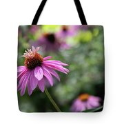 Frilly Hat Echinacea Tote Bag