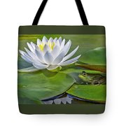 Frog And Lily Tote Bag