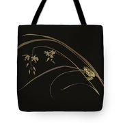 Frog And Orchid Tote Bag