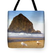 From A Gull's Perspective Haystack Rock Tote Bag