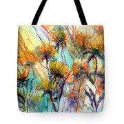 Frozen Chrysanthemums Tote Bag