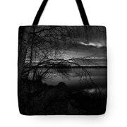 Full Moon Behind The Clouds Tote Bag