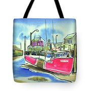 Fundy Tide Hall's Harbour Tote Bag