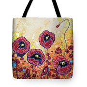 Funky Flowers Tote Bag