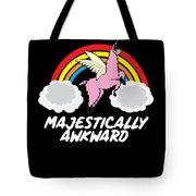 Funny Llamacorn Majestically Awkward Alpaca Lama Tote Bag