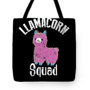 Funny Llamacorn Squad Unicorn Alpaca Lama Tote Bag