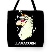 Funny Llamacorn Unicorn Alpaca Lama Tote Bag