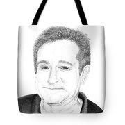Funny Man Robin Williams Tote Bag