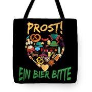 Funny Oktoberfest Prost Ein Bier Bitte Germany Tote Bag