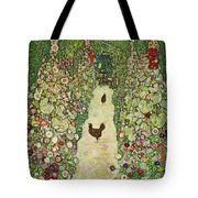 Garden With Chickens, 1916 Tote Bag