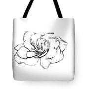 Gardenia Paint My Sketch Tote Bag
