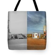 Gas Station - In The Middle Of Nowhere 1940 - Side By Side Tote Bag