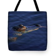 Gator And Snake Tote Bag by Tom Claud