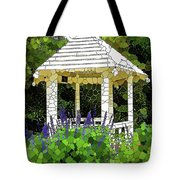 Gazebo In A Beautiful Public Garden Park 3 Tote Bag