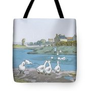 Geese By The River Loing 04 Tote Bag