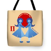 Gemini - Twins Tote Bag by Ariadna De Raadt