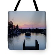 Calm Sunset Finish Tote Bag