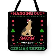 German Shepherd Ugly Christmas Sweater Xmas Gift Tote Bag
