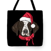 German Shorthair Xmas Hat Dog Lover Christmas Tote Bag